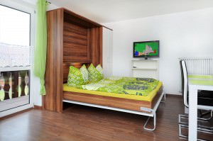 Schlaf und Wohnbereich