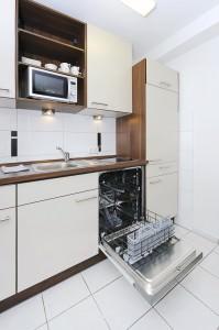 Küche und Spülmaschine der Ferienwohnung Lulu Meinders